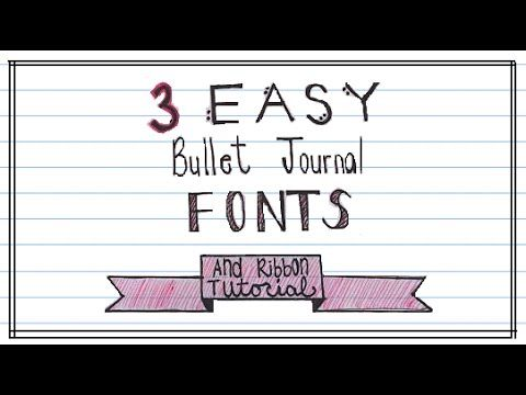 These fonts are perfect for Bullet Journals and are very ...