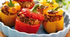 Stuffed Vegetable Medley - substitute shredded cabbage for rice