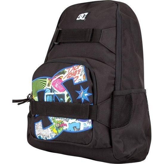 NWT NEW DC SHOES Scatter Brain Velcro Skate Straps Skateboard Backpack Book Bag