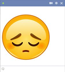 Emoji triste cara