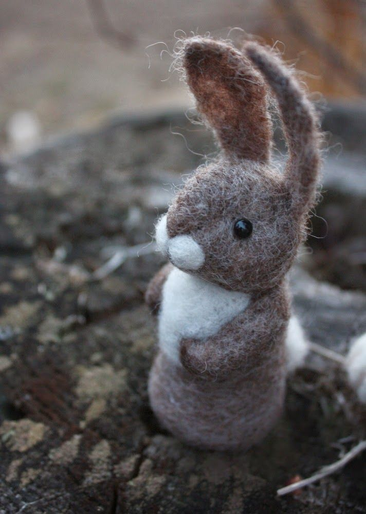 lil fish studios: a buddy - a little bunny finger puppet