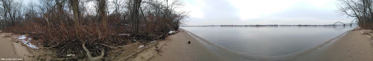 Panorama around Palmyra Cove along the NJ side of the Delaware River.