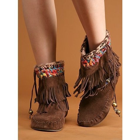 Free People Fringe Moccasin Boot ($100)