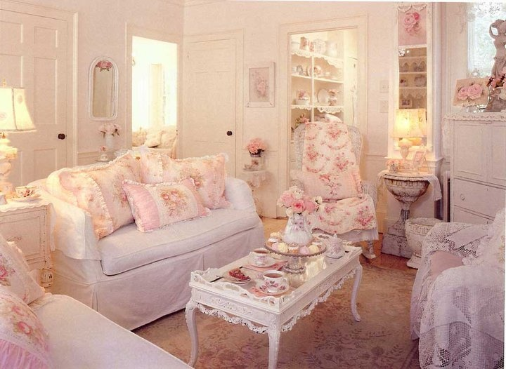 709 best victorian romantic shabby cottage living rooms for Cottage chic living room