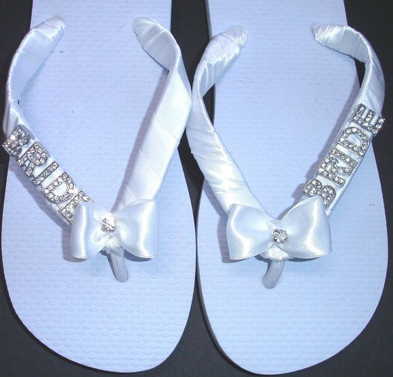 Flip Flops S With Bride In Silver Or Gold Letters