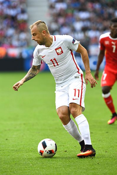 #EURO2016 Kamil GROSICKI of Poland during the European Championship match Round of 16 between Switzerland and Poland at Stade GeoffroyGuichard on June 25 2016...