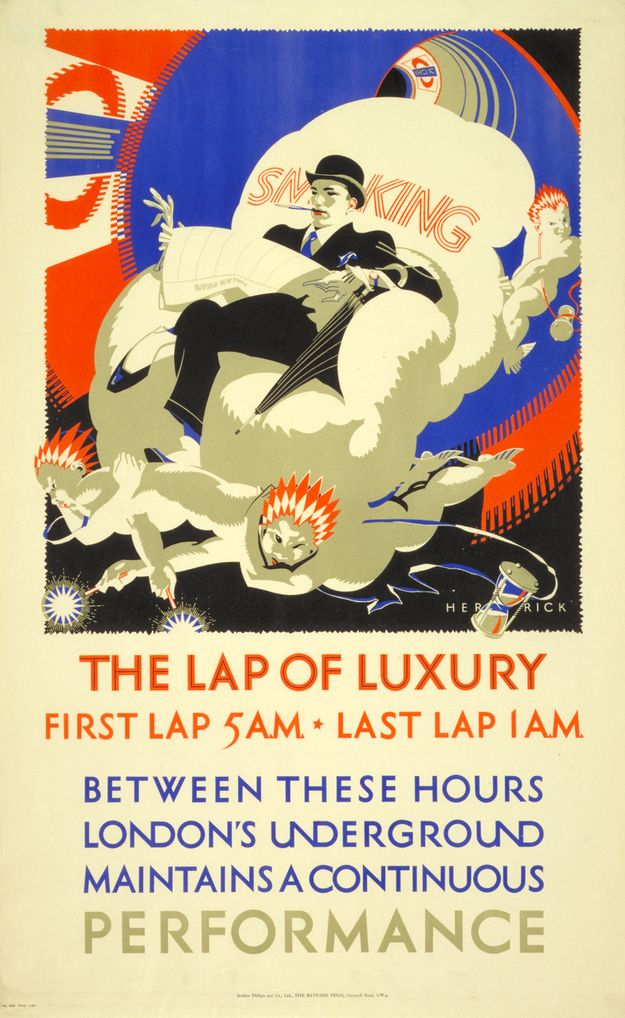 1925: 'The lap of luxury'   20 Gorgeous Vintage Posters For The London Underground