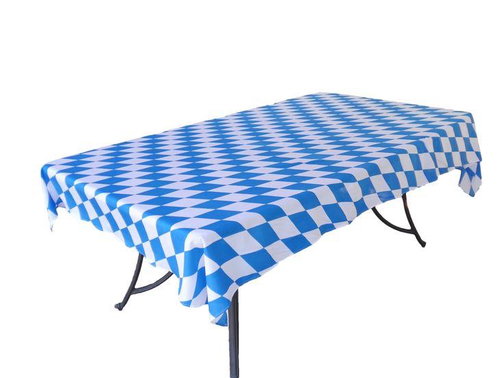 """Oktoberfest Bavarian Blue Tablecloth Roll. 40"""" x 100'"""