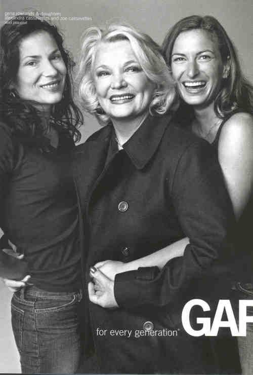 Gena Rowlands with Zoe and Alexandra Cassavetes - mom & daughters