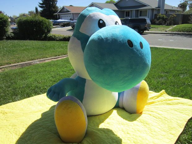 Giant yoshi plush plush patterns and diy and crafts for Yoshi plush template