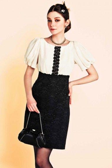 袖付き・ジャガードスカートドレス - 「AIMER(エメ)公式通販サイト|パーティー・結婚式ドレスで人気」