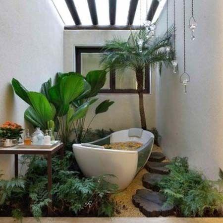 bathroom decor nature - Google Search