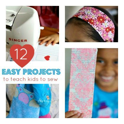 Teach yours kids to use a sewing machine!! Sew Easy: 12 Easy Sewing Projects for kids or beginners.