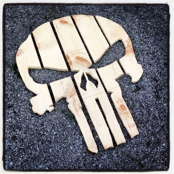 Wood Skull Lawn Chairs ~ Punisher chair back adirondack chairs we have made