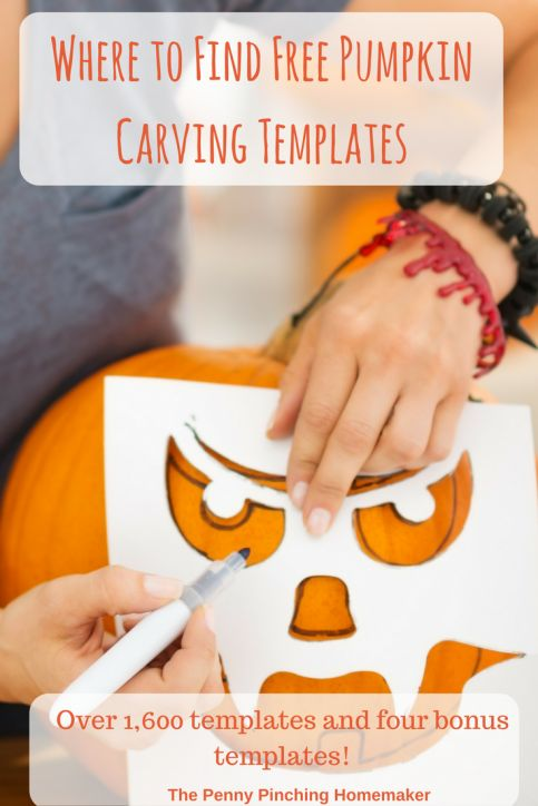 Where to Find Free Pumpkin Carving Templates | https://www.pennypinchinghomemaker.com/free-pumpkin-carving-templates/