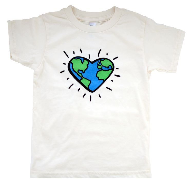 """""""Love the Planet"""" 100% organic cotton tee, eco-friendly, non-toxic ink. https://wolfpupthreads.com"""
