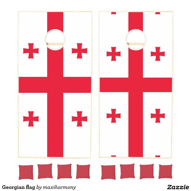 Georgian flag cornhole set