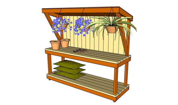 Garden Work Bench Plans | Free Outdoor Plans - DIY Shed, Wooden Playhouse, Bbq, Woodworking Projects