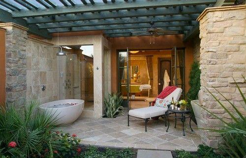 Dream indoor/outdoor bath, San Francisco. Concreteworks.