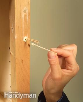 How to fill stripped screw holes and more useful tipps!
