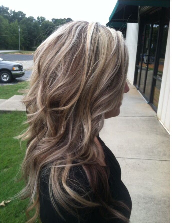 Blonde hair colors with brown lowlights