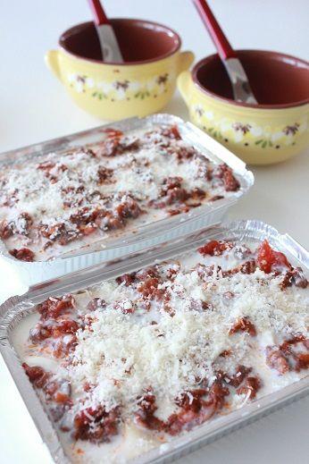 Lasagne alla bolognese.  ボローニャ風ラザニア。