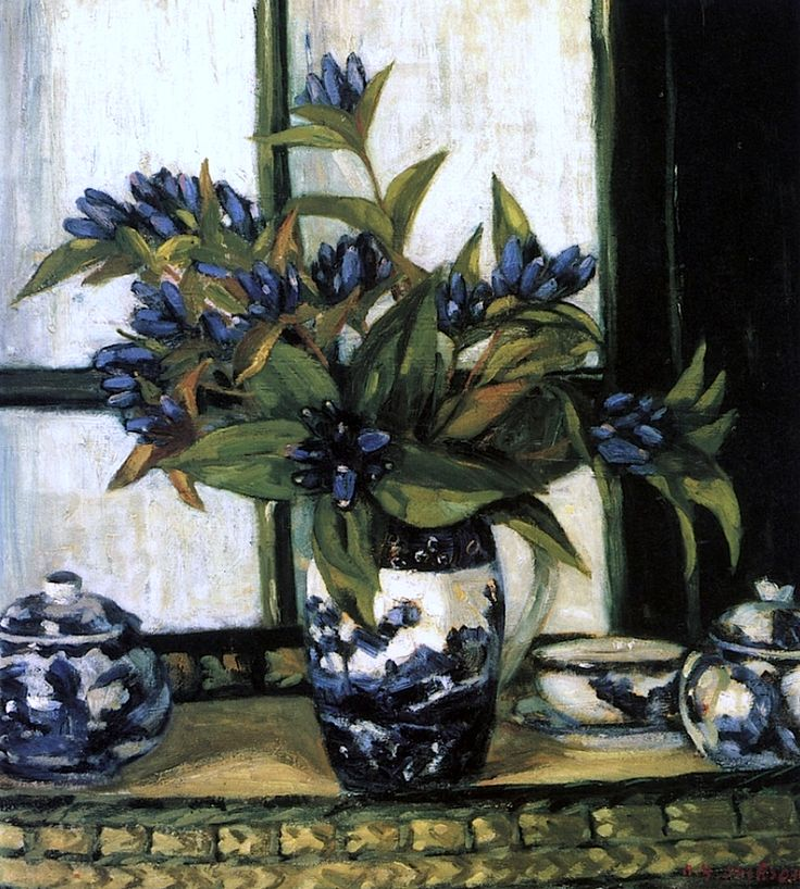 A. Y. Jackson - Blue Gentians Alexander Young Jackson, ( 1882 – 1974) was a Canadian painter and a founding member of the Group of Seven.