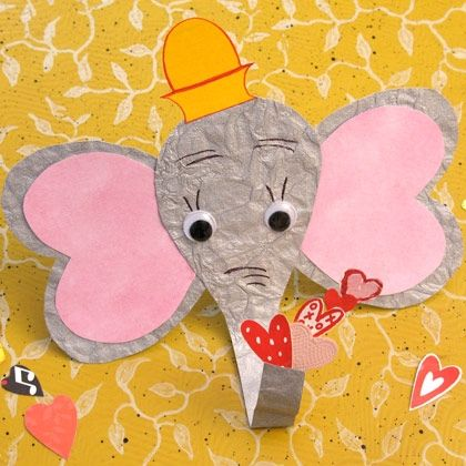 """While jumping from the top of a flaming building and flying circles under the big top proved to be Dumbo's """"fall to fame,"""" not all of his talents come from having extra large ears. This loveable pachyderm is also equipped to perform a brand new Valentine's Day act for adoring fans -- blowing a spray of heart-shaped bubbles."""