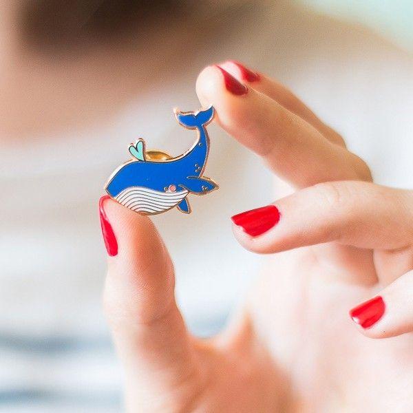 Atelier Mouette Pin's Baleine