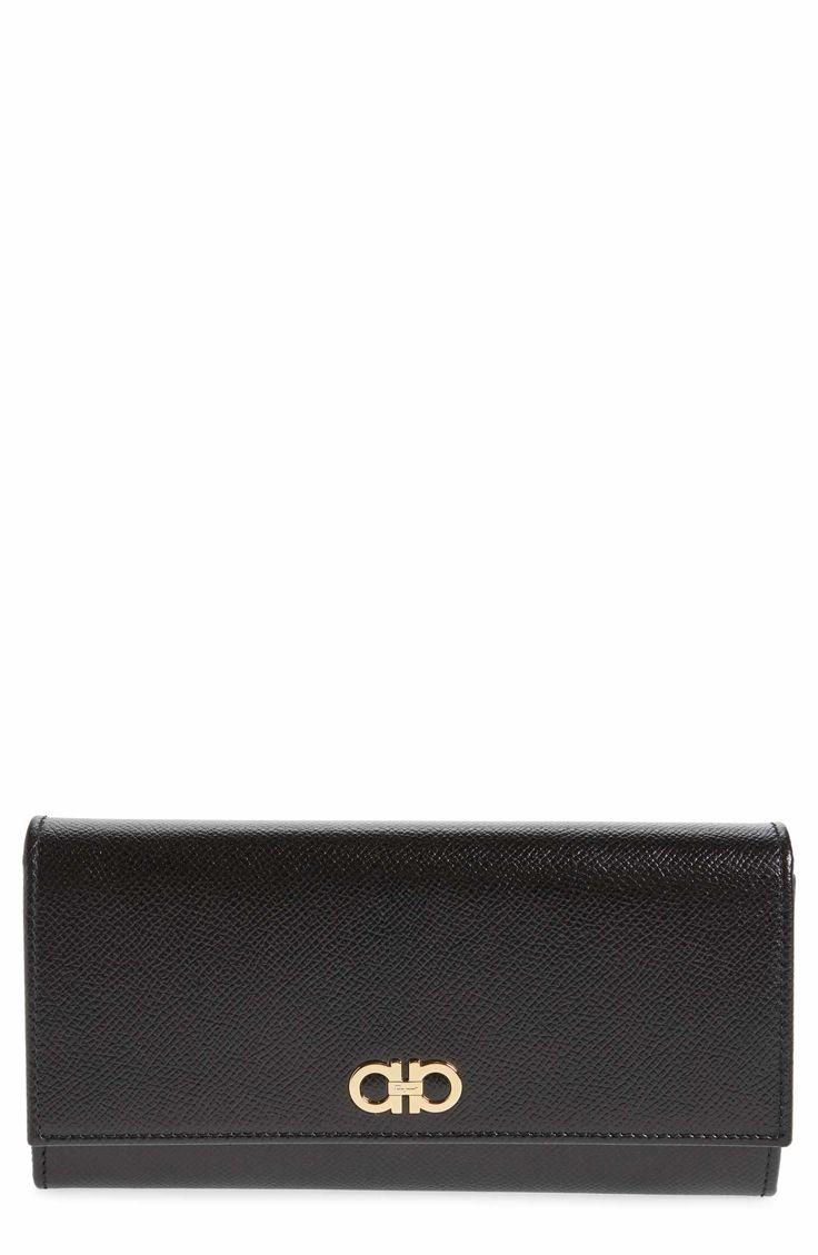 Main Image - Salvatore Ferragamo Gancio Leather Continental Wallet