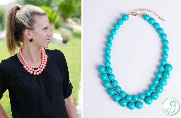 GroopDealz | Pebble Beach Beaded Necklace - 2 Colors!