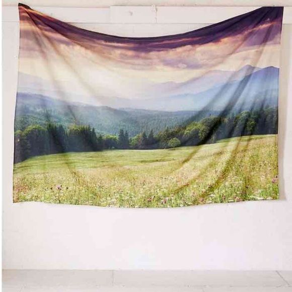 UO Meadows Tapestry Like New tapestry from Urban Outfitters. There are two very small holes from a tac on the upper right and left corners that aren't noticeable unless up close, from being hung up for a few days. Urban Outfitters Other