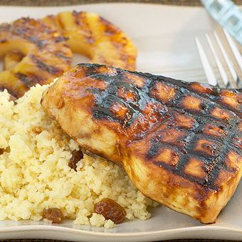 Grilled Swordfish with Curried Mango Grille Sauce