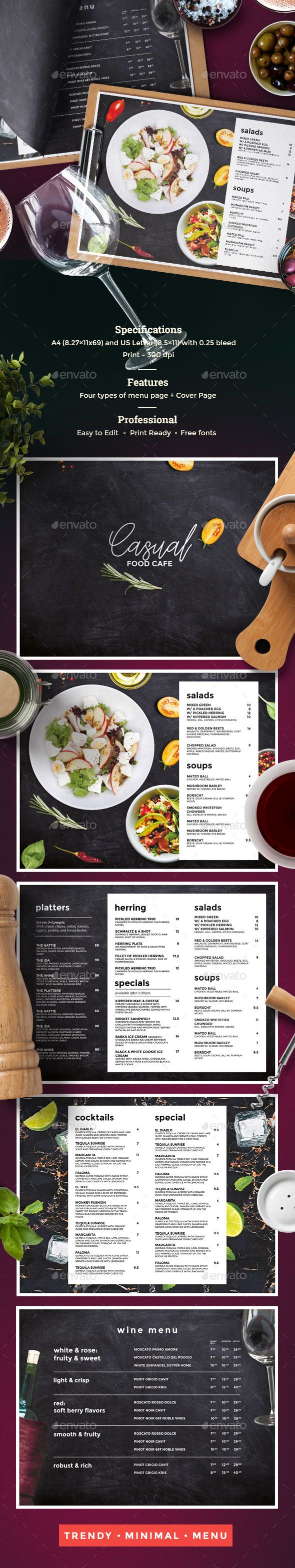 #Restaurant Menu - #Food #Menus Print Templates