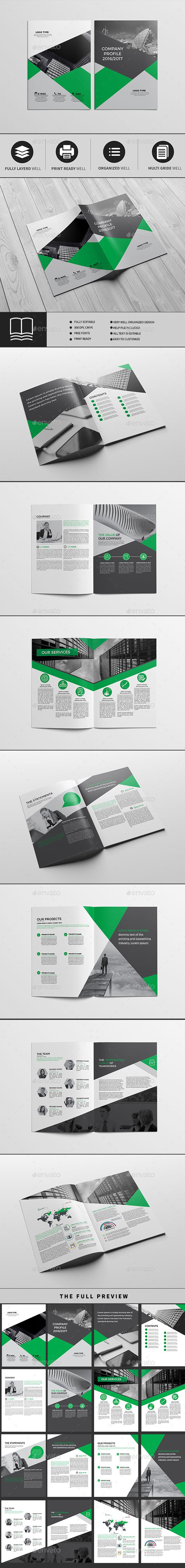 Company Profile A4 16 Pages — InDesign INDD #elegant #21x29.7 • Download ➝ https://graphicriver.net/item/company-profile-a4-16-pages/19244886?ref=pxcr