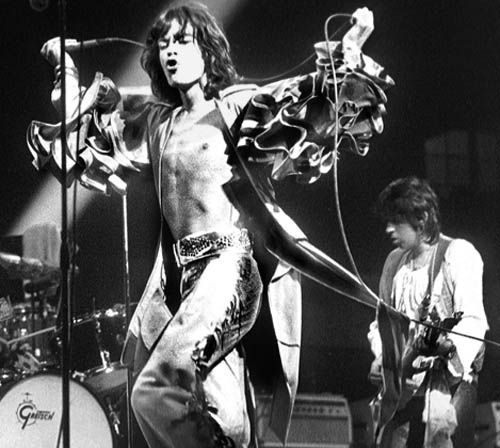 The Rolling Stones: Mick Jagger & Keith Richards, Brussels 1976, by Gijsbert Hanekroot