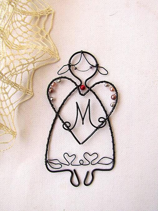Anjelik s monogramom / astra - SAShE.sk - Handmade Dekorácie