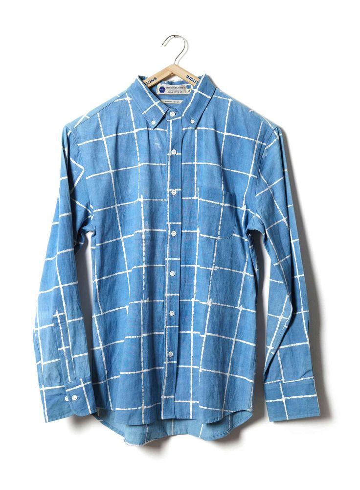 Batik Checks Madras Shirt heavyweight at INDUSTRY OF ALL NATIONS™ in 6 DI in XS, S, M, L, XL