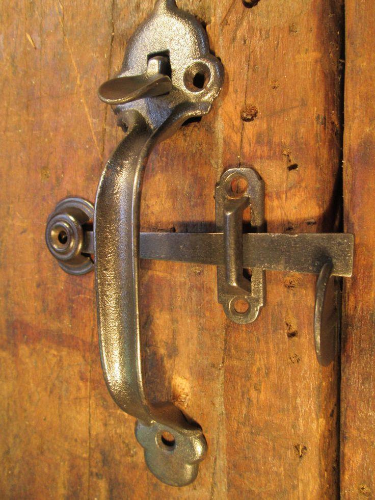 11 best latches images on pinterest cottage door door for Antique barn door latches