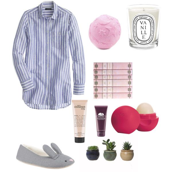Pamper evening by bambyee on Polyvore featuring polyvore, fashion, style, J.Crew, John Lewis, Origins, Eos, philosophy and Diptyque