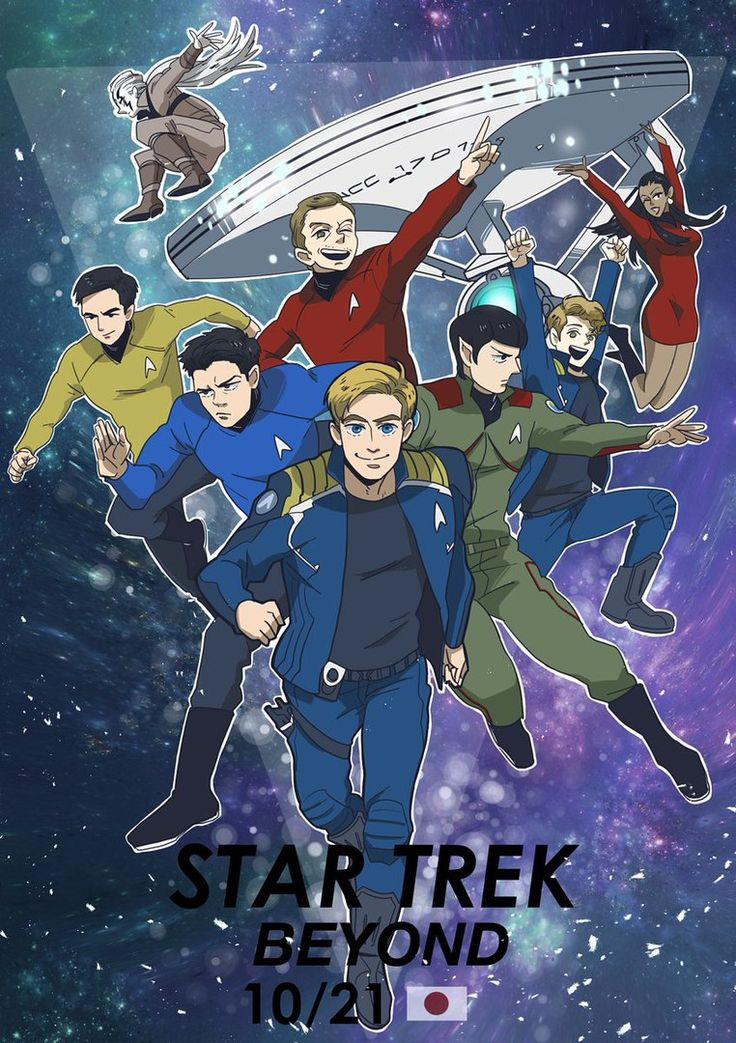 Leonard H. McCoy, James T. Kirk, Montgomery Scott, Nyota Uhura, Spock, Pavel Chekov, Jaylah, Hikaru Sulu || Star Trek AOS