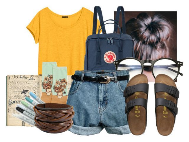"""""""Art Hoe Aesthetic :D"""" by haipeeps ❤ liked on Polyvore featuring H&M, HOT SOX, Comptoir Des Cotonniers, Wildfox, Retrò and Birkenstock"""
