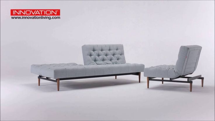 Create a playful living room with the Oldschool sofa bed and the multifunctional chair