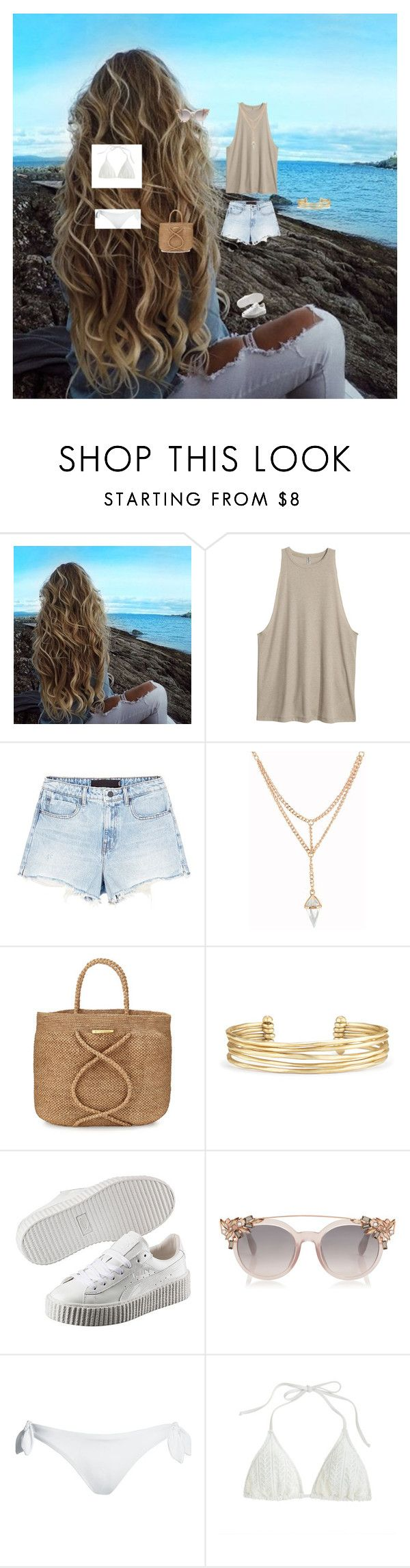 """""""beach barbecue outfit"""" by layalfirdaws on Polyvore featuring mode, Alexander Wang, ViX, Stella & Dot, Puma, Canvas by Lands' End et J.Crew"""