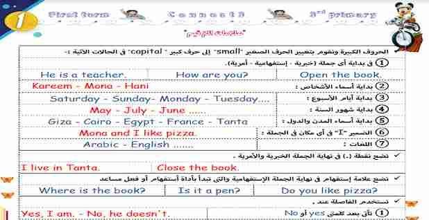 مذكرة لغة انجليزية Connect 3 الثالث الابتدائي ترم اول 2021 مستر صلاح عبد السلام Teacher Connection Cairo