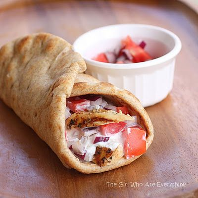 Chicken Gyros-another pinner says: the chicken is SO good that I marinate it this way to grill even when we aren't having the gyro