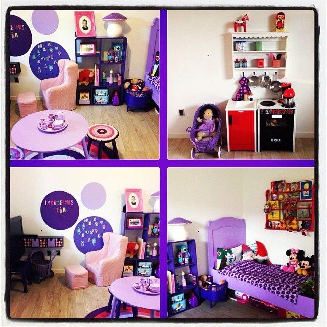 Jeg deltager i konkurrencen hos #vakrerom_barnerom Her elsker vi lilla