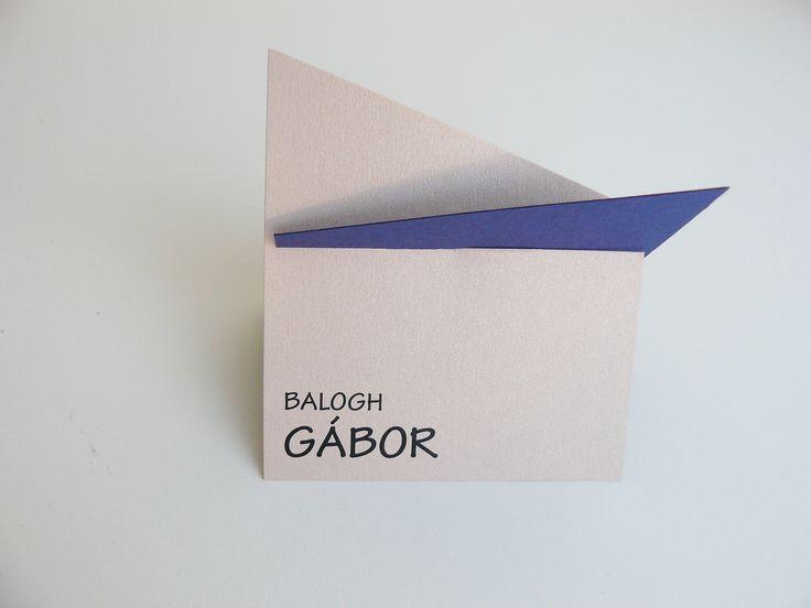 Letisztult, egyedi ültetőkártya - original place card