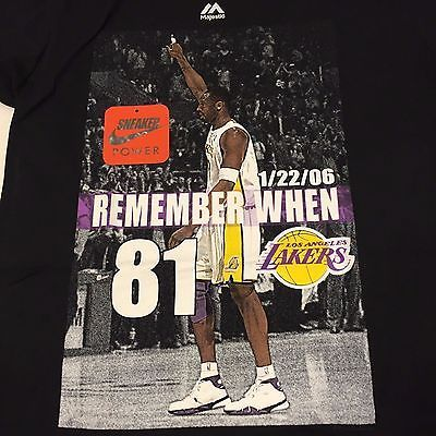 Los Angeles Lakers Kobe Bryant 81 Points Shirt Majestic S M L Retirement MAMBA