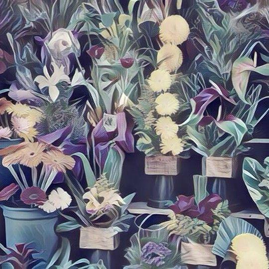 Flower Shop (Surrealism style). Tienda de flores (estilo Surrealismo). #flower #flowers #flor #flores #tienda #tiendas #shop #shops #surrealism #surrealismo #art #arts #arte #artes #painting #paintings #paintwork #paintworks #picture #pictures